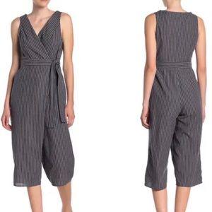 Dress Forum Linen Blend Crop Jumpsuit, S
